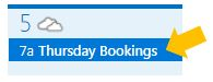 booking day